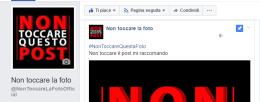 pagina facebook non toccare la foto